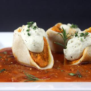 Vegan Sweet Potato Alfredo Stuffed Shells