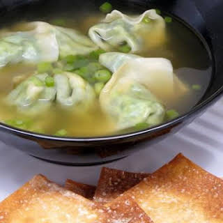 Spinach Soup With Wontons.