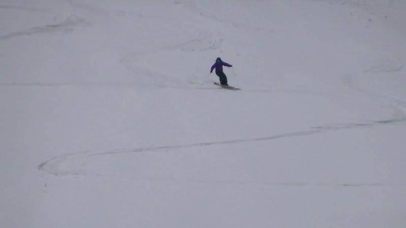 【乗鞍岳バックカントリー】スキー滑走②