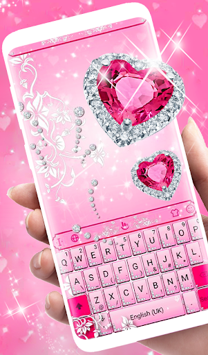 Pink Diamond Princess Keyboard Theme 6.2.22.2019 app download 1
