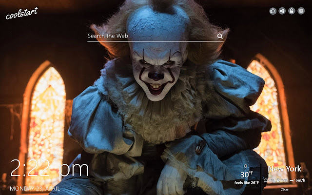 Pennywise HD Wallpapers IT New Tab Theme