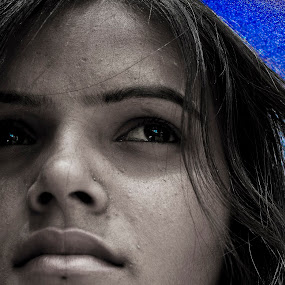 Wait for Somebody... by Shirsendu Sengupta - People Portraits of Women