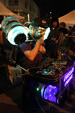 Photo: A mobile Mardi Gras-inspired DJ