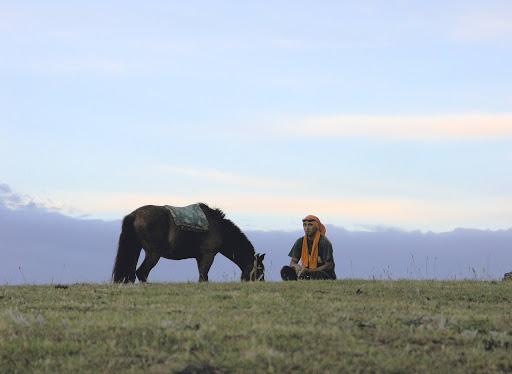 El Horseman on Easter Island.