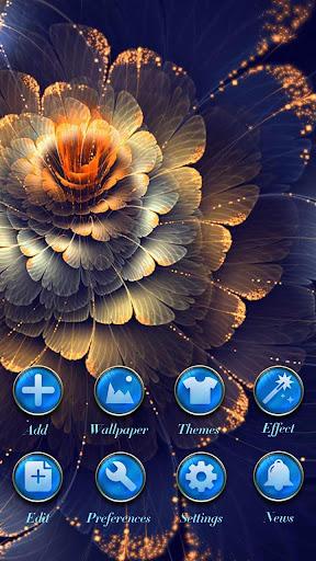 Blue Luxury GO Launcher Theme Screenshot 4