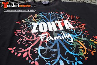 Photo: T shirt personnalisés en transfert sérigraphique quadri : ZOHTA FAMILY