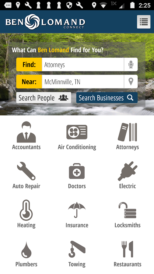 Ben Lomand Yellow Pages- screenshot