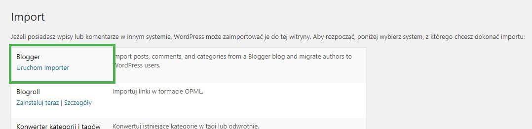 Jak przenieść treści z Bloggera na WordPress?