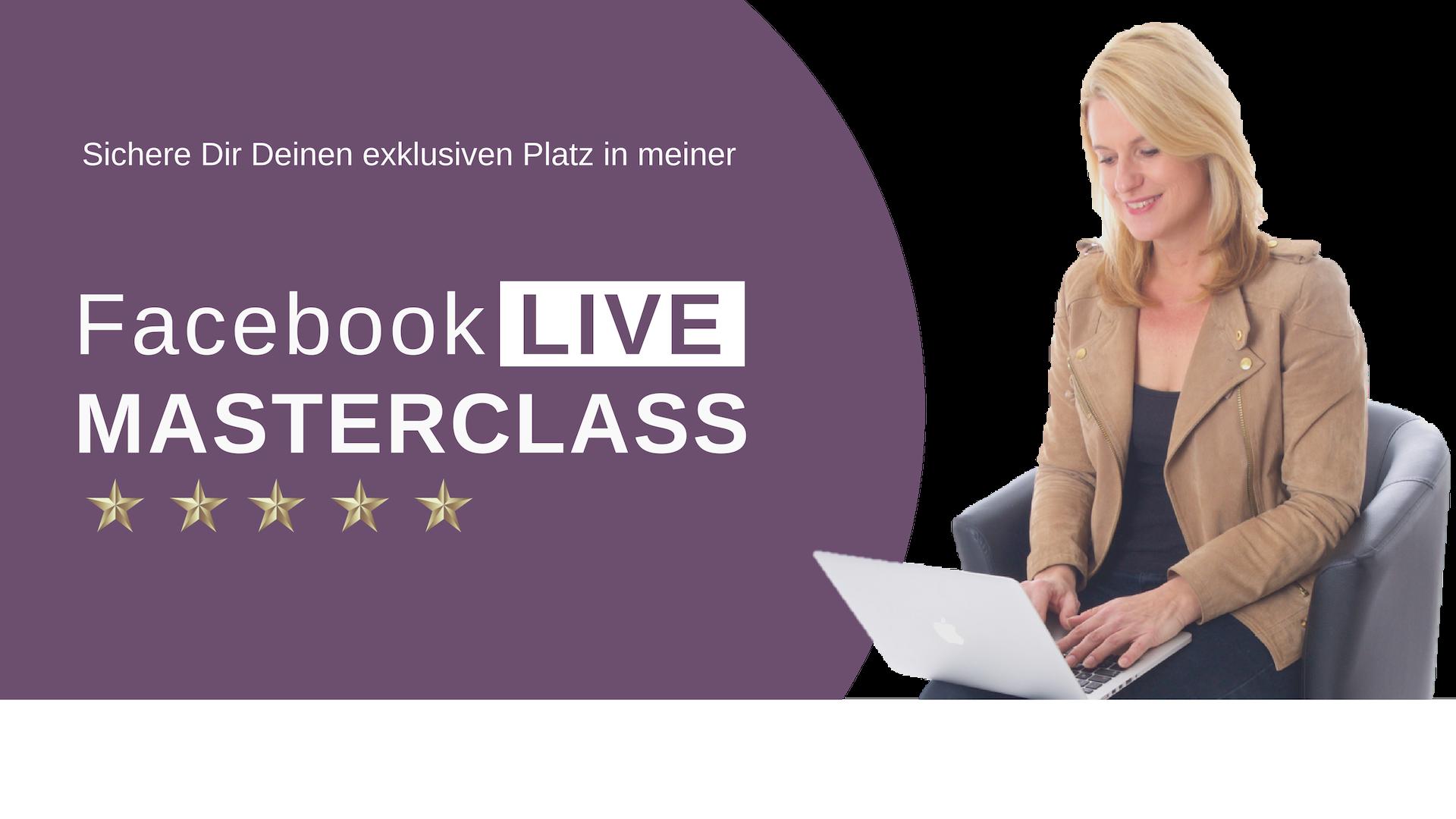 Anmeldung zum gratis Facebook Live Training!