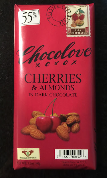 cherries-n-almonds chocolove bar front