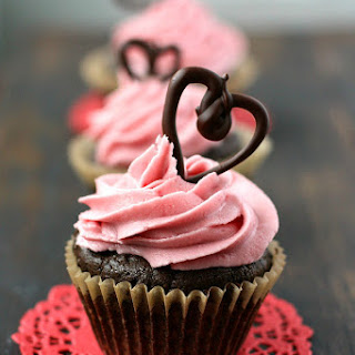 Chocolate Valentine Cupcakes (Gluten Free, Vegan). Recipe