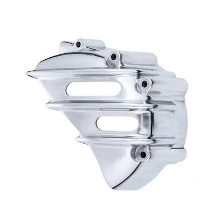Speedster Sprocket Cover - Ribbed - Polished - AC
