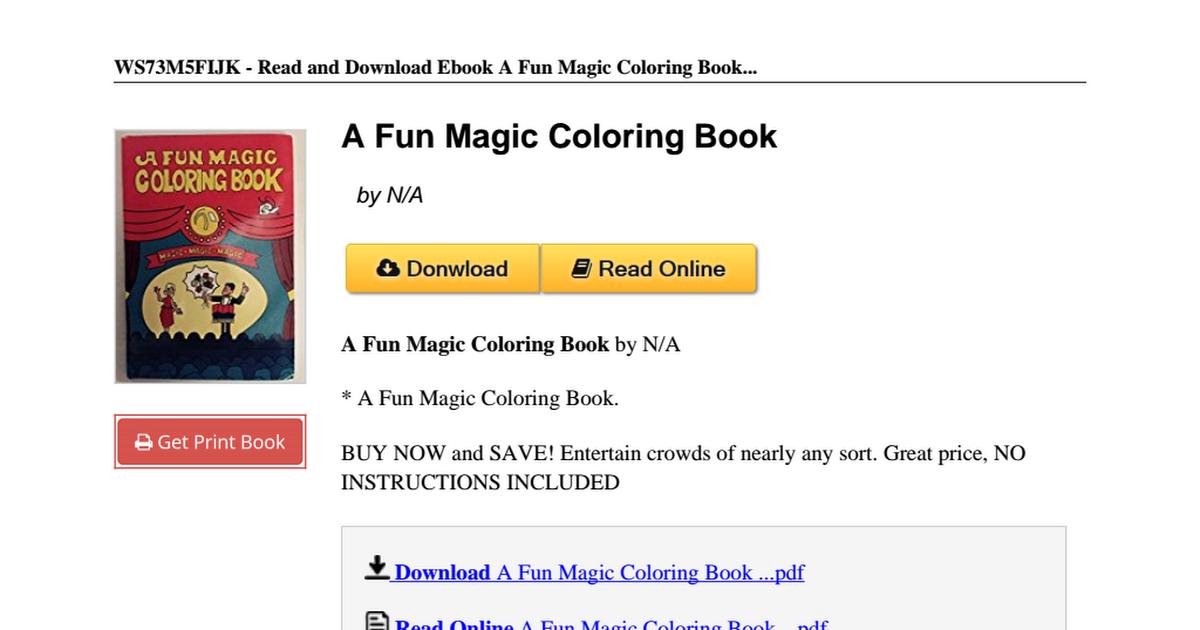 a fun magic coloring book b00qszy4eopdf google drive - A Fun Magic Coloring Book