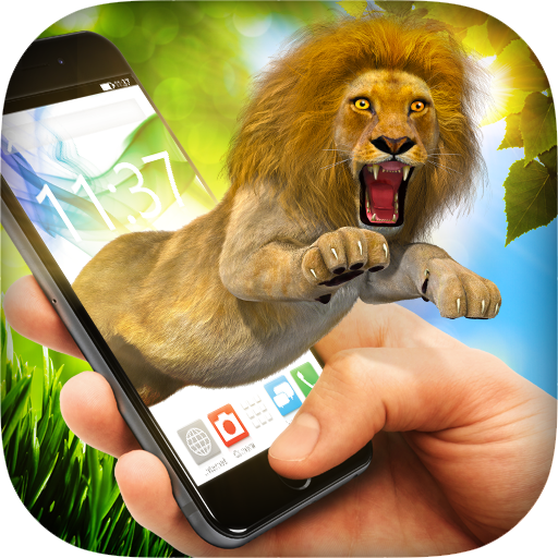 Lion in Phone Prank Icon