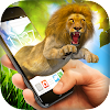 Lion in Phone Prank