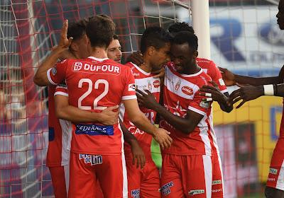 Moeskroen wint van Eupen en sluit zich aan bij Club Brugge en KV Mechelen op de tweede plaats.