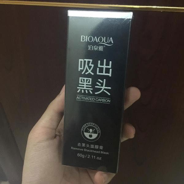 Jual Masker Arang Untuk Komedo  BIOAQUA Charcoal Mask Black Mask