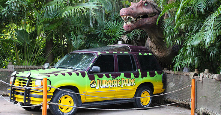 Jeep in Jurassic Park at Universal Orlando