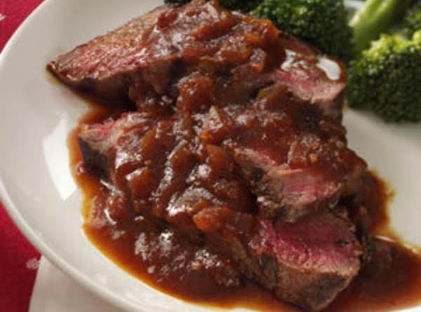 Sirloin With Chili-beer Bbq Sauce