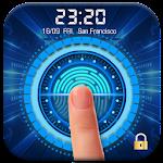 Fingerprint Lock Screen with Clock Dashboard Icon