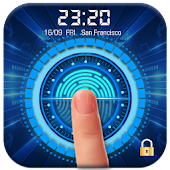 Fingerprint Lock Screen with Clock Dashboard