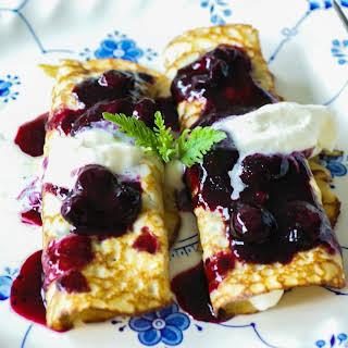 Paleo Blueberry Breakfast Crepes.