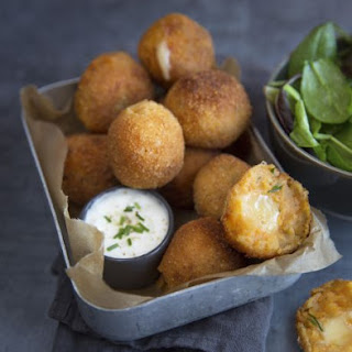 Sweet potato and Entremont Raclette cheese croquettes.