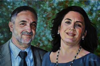 Photo: Óscar y Uxue, óleo sobre lienzo