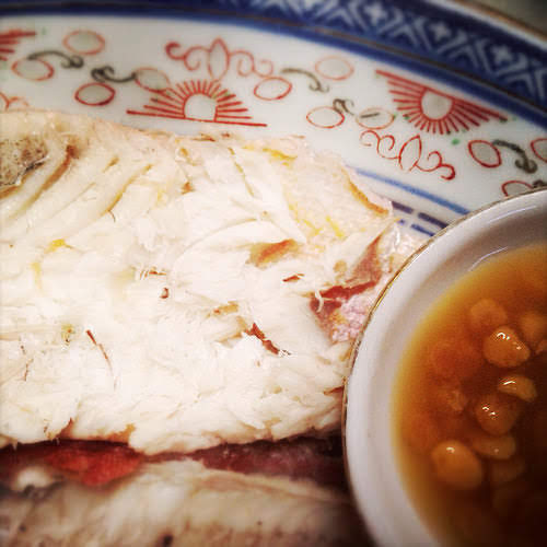 Chilled, cold, Bigeye Fish, fish, big eye chicken, Chiu Chow,  潮州, 凍, 大眼雞, recipe, chinese, pu ning, bean sauce, 普宁豆酱