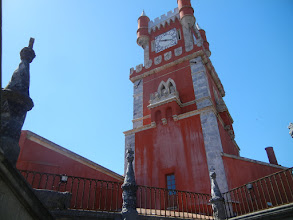 Photo: Clock tower next to the chapel, Pena Palace.