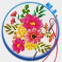 Cross Stitch: Coloring Art icon