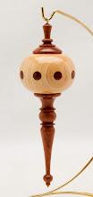 "Photo: Mike Twenty - Globe Tree Ornament - 2.5"" x 7"" - Bubinga, Ash"