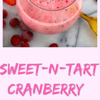 Sweet-n-Tart Cranberry Smoothie.