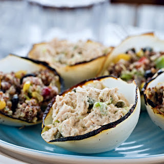 Stuffed Charred Onion Petals (Whole30) (Low Carb) (Vegan)