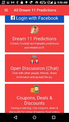 All Dream 11 Predictions Pro(Dream11, Fantain)  screenshots 1