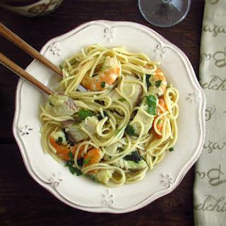 Spaghetti with Dogfish and Shrimp Recipe