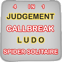 Judgement Card Game - Ludo Master,Callbreak,Spider icon