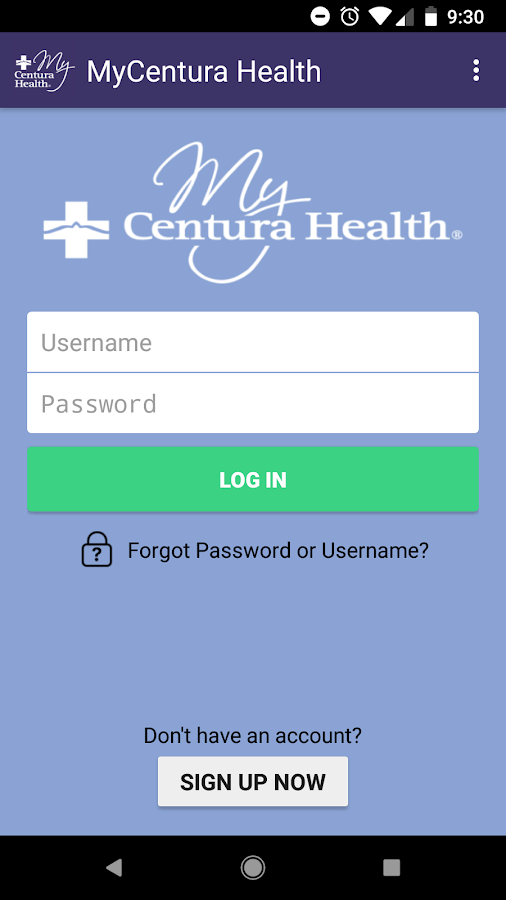 MyCentura Health- screenshot