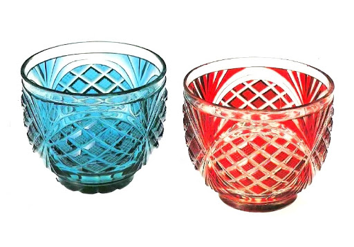 Satsuma Cut Glass Scarlet Cut Glass Bowl Green Cut Glass Bowl Google Arts Culture