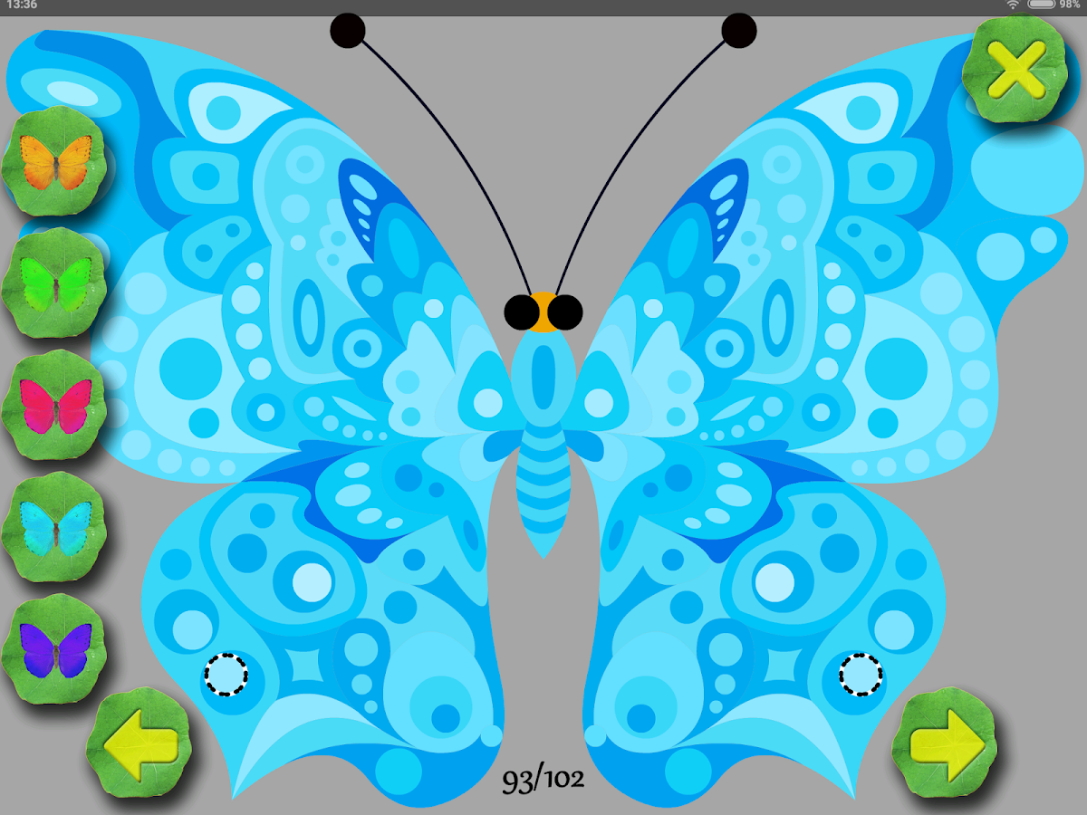 Butterflies Coloring + Match 3- screenshot