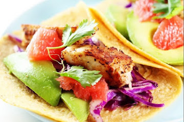 Grapefruit & Avocado Fish Tacos