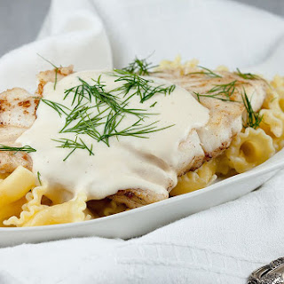Creamy White Wine And Dill Sauce.