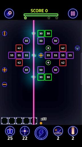 Brick Breaker Glow modavailable screenshots 13