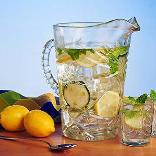 Cucumber-Lemon Flavored Water.