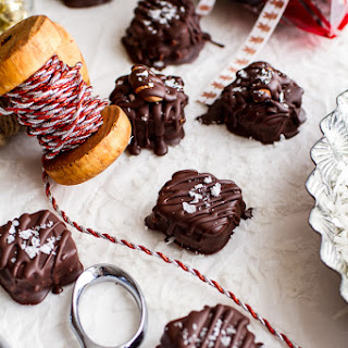 Chocolate Covered Pretzel Coconut Caramel Somoa Present Bites.
