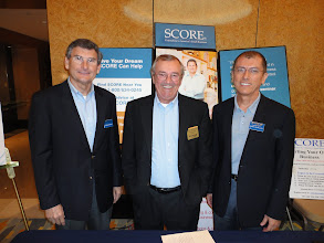 Photo: Broward SCORE's George Gremse, Eric Thompson & Ernie Cevallos at Hispanic Unity's 2012 Entrepreneur Summit