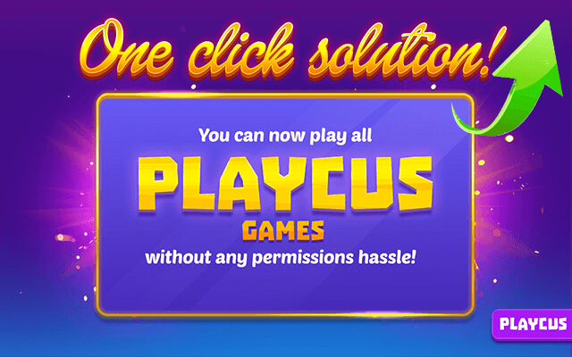 One Click Playcus Flash Games