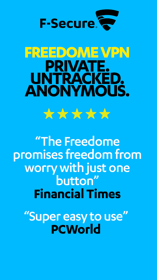 F-Secure Freedome VPN- screenshot