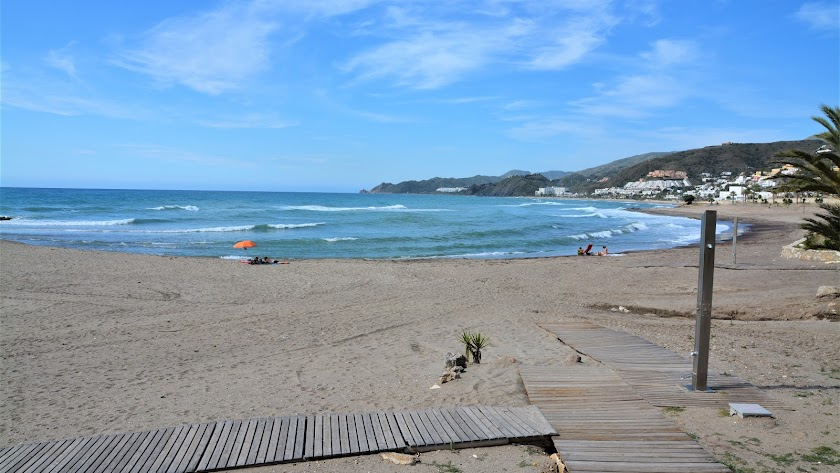 Las playas de Mojácar, esta mañana, no han experimentado una gran afluencia.