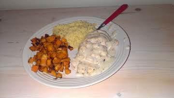 garlic and herb chicken with cream sauce